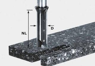 Festool Wendeplatten-Nutfräser HW Schaft 12 mm HW S12 D14/45 WM
