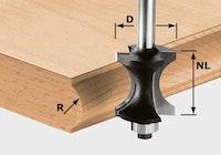 Festool Halbstabfräser HW Schaft 8 mm HW S8 D30/28
