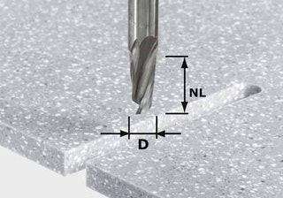Festool Spiralnutfräser HW Schaft 12 mm HW D12/27 ss S12