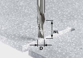 Festool Schrupp-Schlicht-Fräser HW Schaft 12 mm HW Spi D12/42 LD ss S12