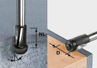 Festool Bündigfräser HW Schaft 12 mm HW D19/25 ss S12