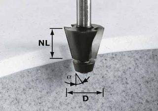 Festool Fasefräser HW Schaft 12 mm HW D33,54/15° ss S12