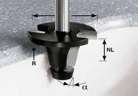 Festool Beckenfräser HW Schaft 12 mm HW R6.35/25/6° ss S12