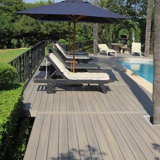 FUN-Deck Ultrashield® WPC-Terrassendiele Multigrey light, Vollprofil
