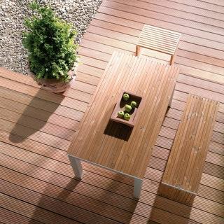 OSMO Terrassendiele Bangkirai genutet / glatt - PREMIUM KD