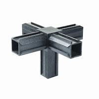 GAH XD-Rohrverbinder Kreuzstück plus ein rechtwinkeliger Abgang