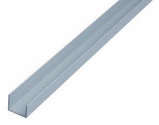 GAH U-Profil, Alu, Länge 1m, 20x22x15mm