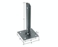 GAH Zaunsystem Fix-Clip Pro Pfostenfuß