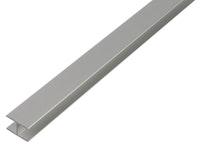 GAH U-Profil, selbstklemmend, 10x8,9x10x1,5mm, Alu silber eloxiert