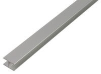 GAH U-Profil, selbstklemmend, 22x22,5x22x1,8mm, Alu silber eloxiert