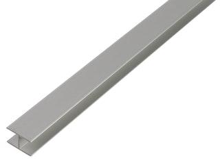 GAH H-Profil, selbstklemmend, 15,9x30x1,8 mm, Alu silber eloxiert