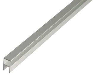 GAH Eckprofil, selbstklemmend, 8,9x20x1,5mm, Alu silber eloxiert