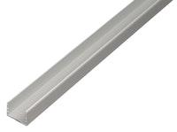 GAH U-Profil, selbstklemmend, 10x12,9x10x1,5mm, Alu silber eloxiert