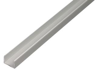 GAH U-Profil, selbstklemmend, 15x19,9x15x2,0mm, Alu silber eloxiert