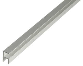 GAH Eckprofil, selbstklemmend,19,5x40x1,8mm, Alu silber eloxiert