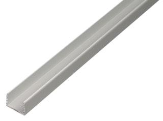 GAH U-Profil, selbstklemmend, 24x24,6x24x1,8mm, Alu silber eloxiert