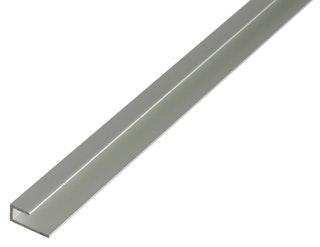 GAH Abschlussprofil, selbstklemmend, 20x9x6x1,5mm, Alu silbert eloxiert