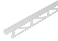 GAH Fliesen-Abschlussprofil, Kunststoff, weiß, Breite 23,5mm, Länge 2,5m