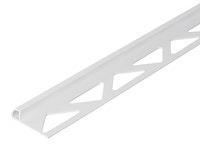 GAH Fliesen-Viertelkreisprofil, Kunststoff, weiß, Breite 30mm, Länge 2,5m