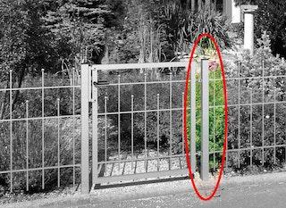 GAH Zaunsystem Madrid Klobenpfosten für Einzeltor