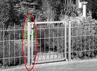 GAH Zaunsystem Madrid Anschlagpfosten für Einzeltor