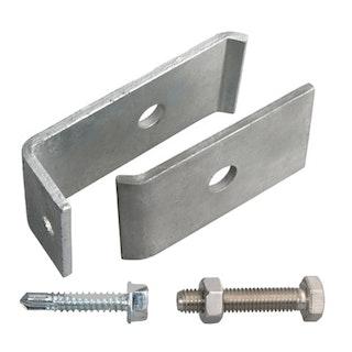 GAH Befestigungs-Set für Doppelstabmatten an Mauern oder Pfosten