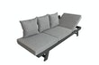 Garden Pleasure Funktionssofa DONNA Aluminium anthrazit / 100 % Polyester grau