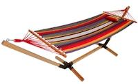 Garden Pleasure Hängematte HAITI Hartholz / 100 % Baumwolle multicolor