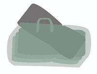 Garden Pleasure Aufbewahrungstasche für 4 Hochlehnerkissen 100 % Polyester anthrazit
