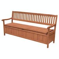Garden Pleasure 4-Sitzer Bank mit Staufach HOUSTON Eukalyptus geölt