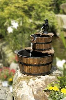 Gardenforma Wasserspiel Galway mit Holzbecken