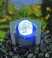 Gardenforma Wasserspielset Lundey mit drehender Glaskugel