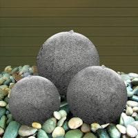 Gardenforma Wasserspiel-Set Bermudas mit 3 Granitkugeln