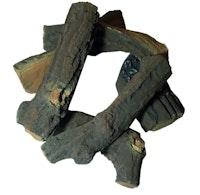 Gardenforma Brennholz aus Keramik für Gas Feuerstellen, Fallholz Optik