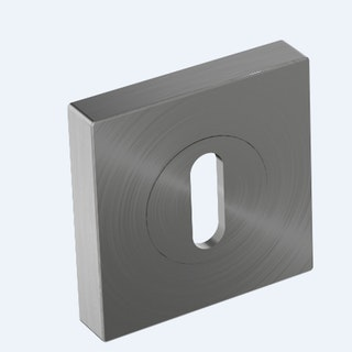 GRIFFWERK Außen-Rosetten Quadrat SIEGER DESIGN Edelstahl matt WC/BB