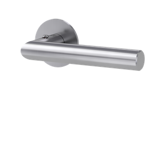 GRIFFWERK Drückergarnitur smart2lock 2.0 LUCIA PIATTA S-Edelstahl matt Griffpaar mit Drückerrosetten