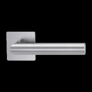 GRIFFWERK Drückergarnitur smart2lock 2.0 LUCIA PIATTA S QUATTRO-Edelstahl matt Griffpaar mit Drückerrosetten