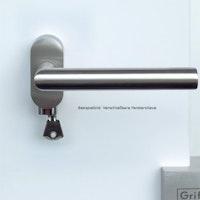 GRIFFWERK Fensterolive verschließbar 4-fach Rasterung - Edelstahl matt