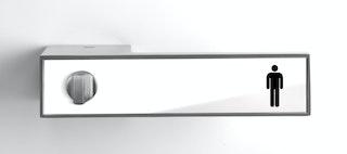 GRIFFWERK Griffpaar FRAME mit Einleger Inlay Glas weiß-DESIGN MANUFAKTUR