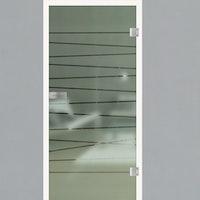 GRIFFWERK Ganzglastüre LINES CROSSING-514 SONDERMAß max. 120 x 230 cm
