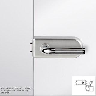 GRIFFWERK Ganzglastürbeschlagset CLASSICO 1.0 ohne Griff-Edelstahl matt