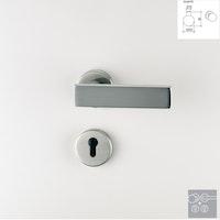 Griffwerk Wechselgarnitur CARLA K3-Edelstahl matt-Klipptechnik