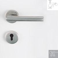 Griffwerk Wechselgarnitur LUCIA K3 - Edelstahl matt - Klipptechnik