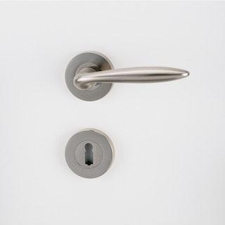 GRIFFWERK Rosettengarnitur ALINA Schraubrosette- Nickel matt