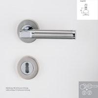 Griffwerk Wechselgarnitur LARONDA Chrom/Nickelmatt/Edelstahl