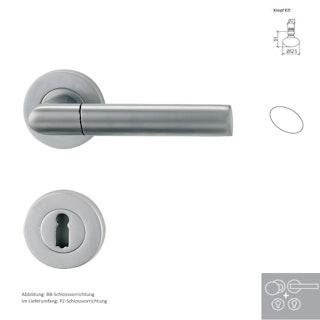 Griffwerk Wechselgarnitur MONICA - Perla Silbermatt - Schraubrosette