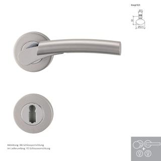 Griffwerk Wechselgarnitur RAFFAELLA - Chrom/Perla - Silbermatt