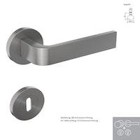 Griffwerk Wechselgarnitur SIEGER DESIGN / GRAPH K4 - Edelstahl matt