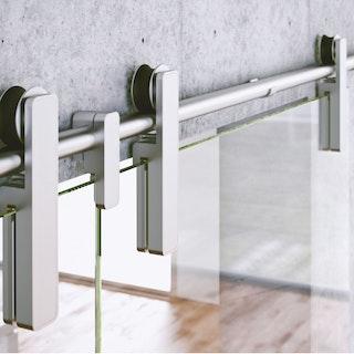 GRIFFWERK Schiebetürsystem R8 a.d.Wand-Edelstahl Optik