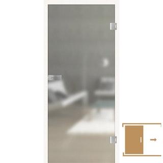 GRIFFWERK Ganzglasschiebetüre SNOWWHITE-501 PURE WHITE ESG